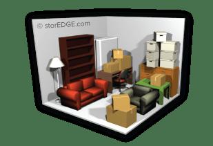Storage Unit Space Estimator Neighborhood Self Storage